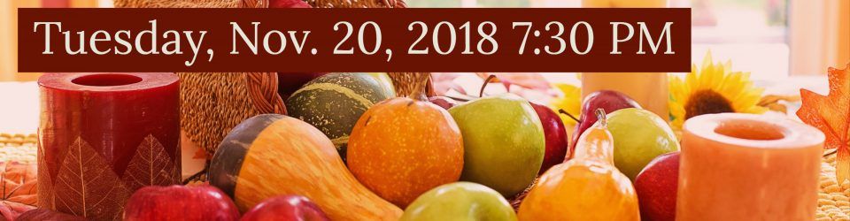 Thanksgiving Service tuesday at 7