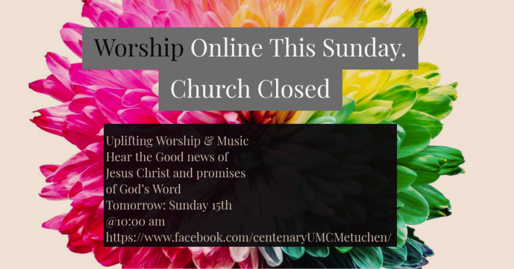 Worship Online tomorrow on facebook live